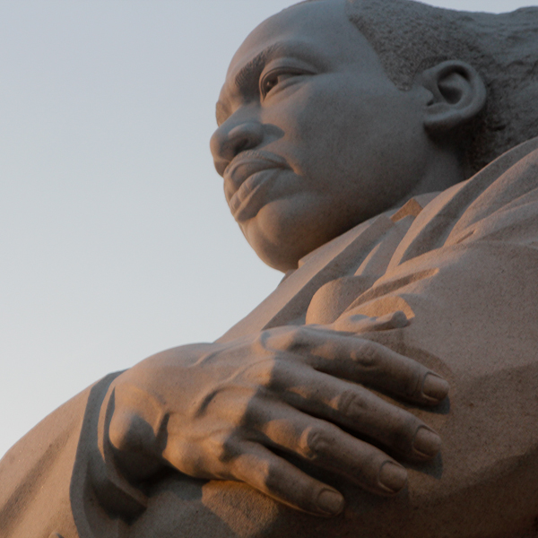 A King etched in stone, Dr. Martin Luther King Jr. Memorial