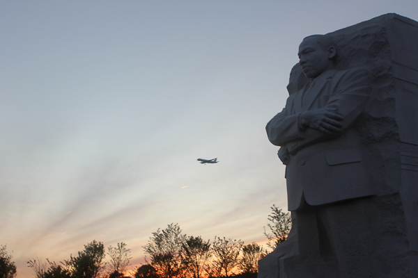 Memorial at dusk, Dr. Martin Luther King Jr. Memorial