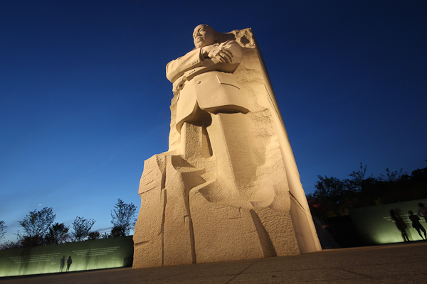 King at night #2, Dr. Martin Luther King Jr. Memorial
