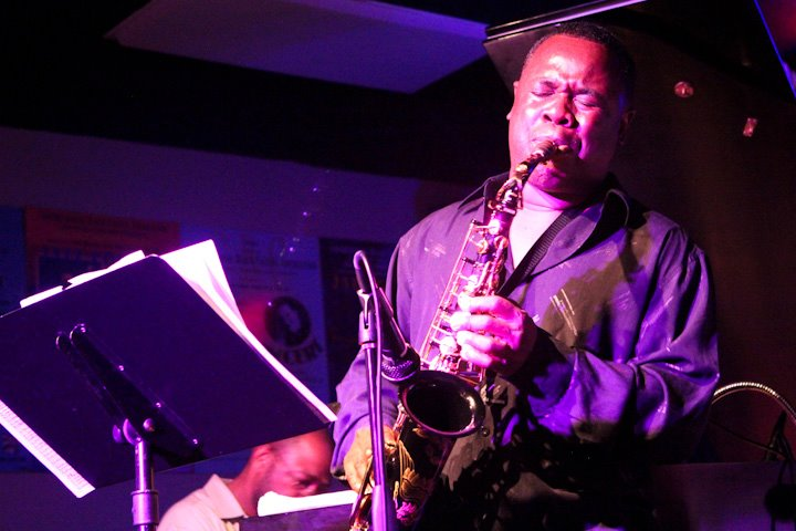 Antonio Parker on saxophone at HR-57