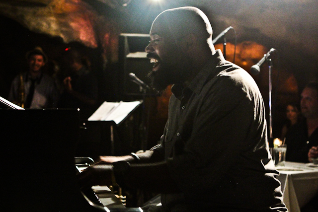 Allyn Johnson on piano with the Elijah Balbed Quintet at Bohemian Caverns