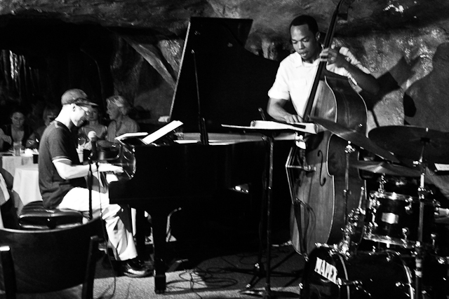 George Colligan on piano and Eric Wheeler on bass with the George Colligan Trio at Bohemian Caverns