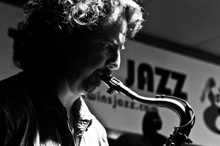 Jeff Antoniuk on saxophone with Tony Martucci Quintet at Twins Jazz