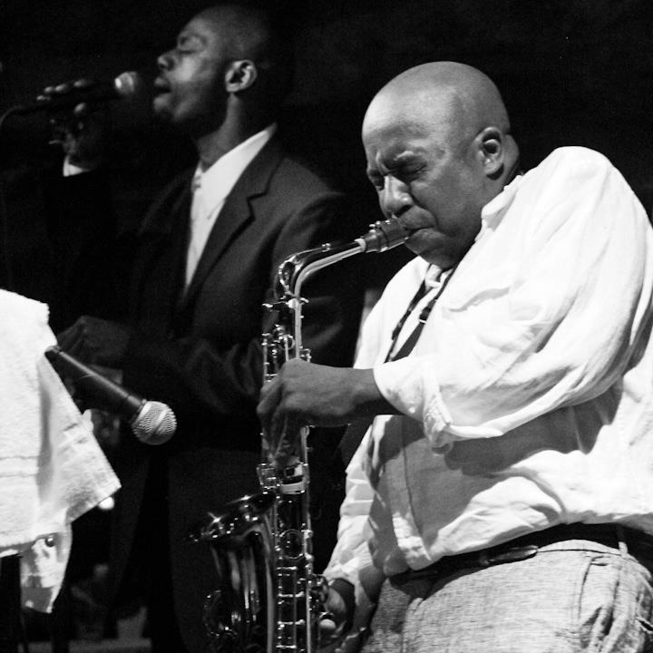 Ron Sutton Jr. on sax with Kiyem Ade Sextet at Bohemian Caverns