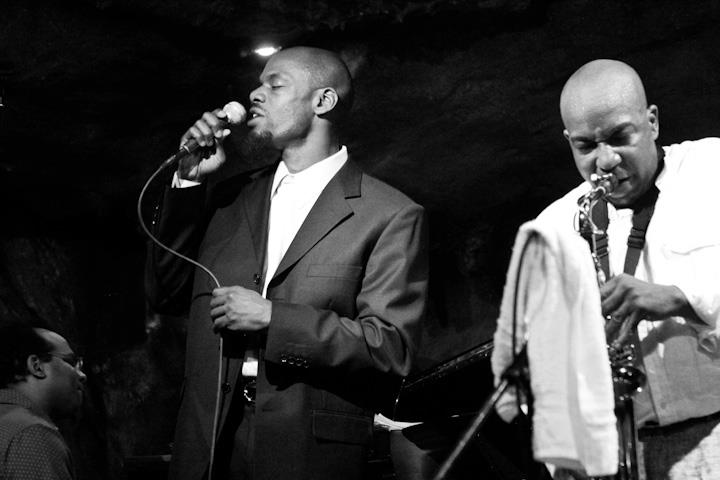Kiyem Ade on vocals with Kiyem Ade Sextet at Bohemian Caverns
