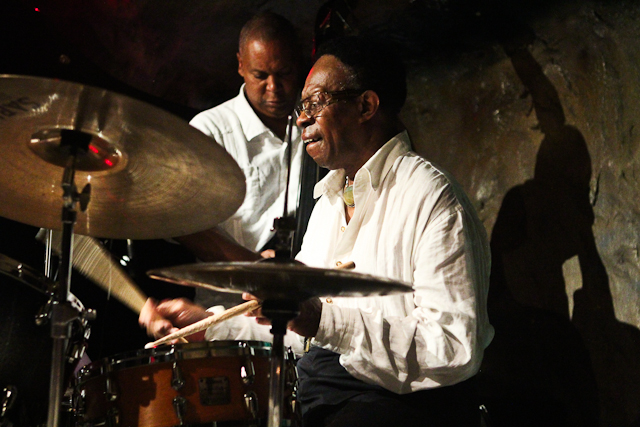 Louis Hayes, drums with the Louis Hayes Jazz Communicators at Bohemian Caverns