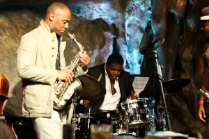 Marcus Strickland, saxophone and Justin Faulkner, drums