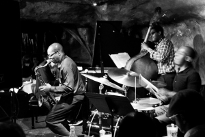 Ravi Coltrane, saxophone, E.J. Stickland, drums, and Dezron Douglas, bass