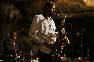 Quamon Fowler, tenor saxophone and Quincy Phillips, drums