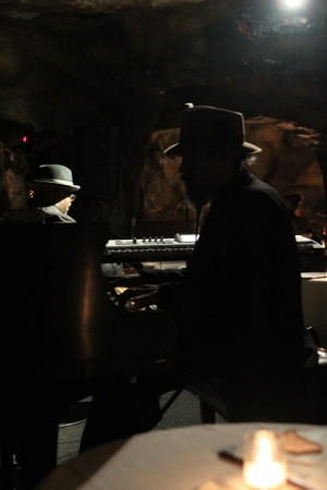 Dave Robbins, piano with Tarus Mateen
