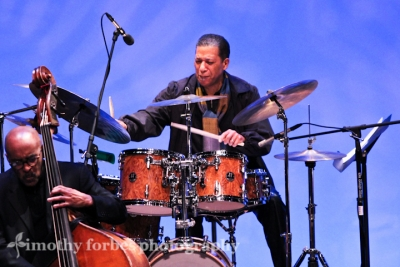 Nasar Abadey, drums and James King, bass