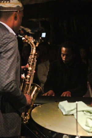 Marc Cary, piano and Brian Settles, saxophone