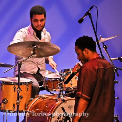 Kush Abadey, drums and Jabari Exum, vocals