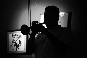 From the shadows: Joe Herrera, trumpet