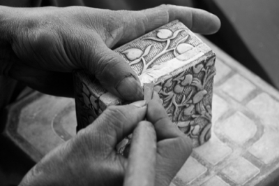 Engraving marble