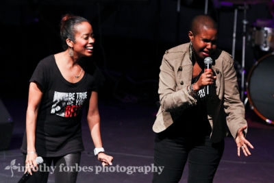 Akua Allrich and Paige Hernandez, vocals