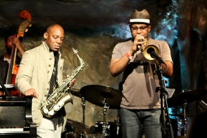 Marcus Strickland, saxophone Etienne Charles, trumpet, and Ameen Saleem, bass
