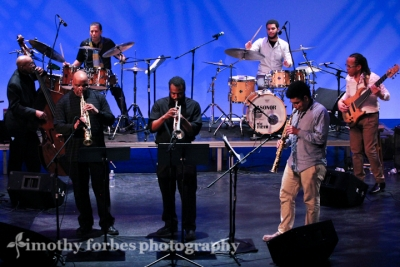 Nasar Abadey, drums, Kush Abadey, John Williams, trumpet, Joe Ford saxophone, James King, bass, Michael Bowie, bass, and Arnold Lee, saxophone