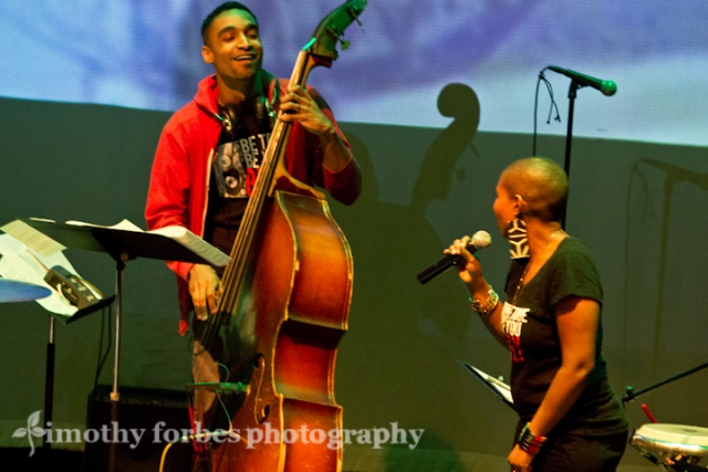Kris Funn, bass and Akua Allrich, vocals