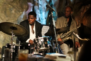 Justin Faulkner, drums with Marcus Strickland