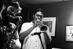 Joe Herrera, trumpet with Bobby Muncy on saxophone
