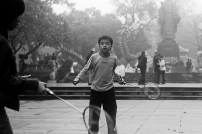 Badminton in the park