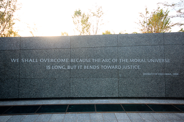 The arc of the moral universe, Dr. Martin Luther King Jr. Memorial