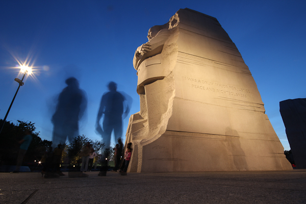 King at night #1, Dr. Martin Luther King Jr. Memorial