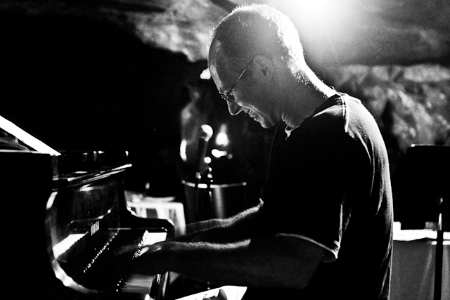 George Colligan on piano with the George Colligan Trio at Bohemian Caverns