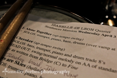 Set list for Isabelle De Leon Quartet
