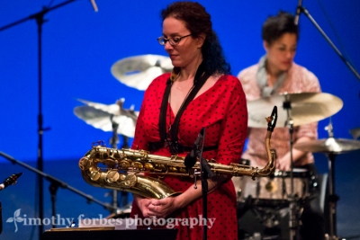 Leigh Pilzer, saxophone with Kimberly Thompson, drums