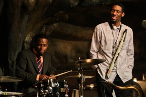 Quincy Phillips, drums with Quamon Fowler, EWI